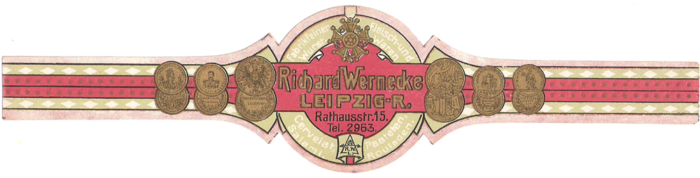 Historische Wurstettikette von Wernecke